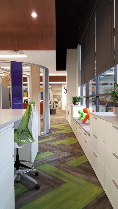 Carpeted Work Spaces