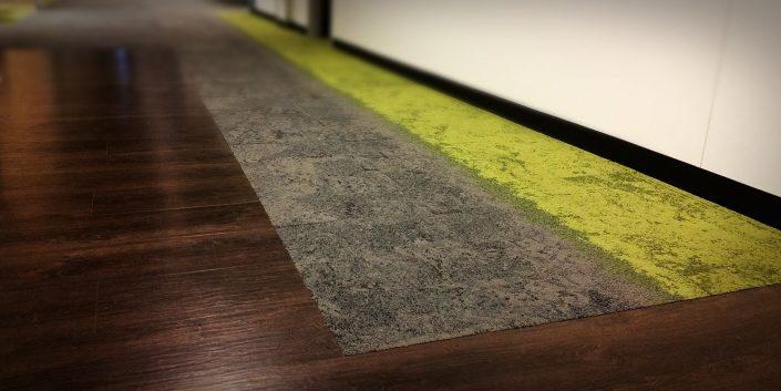 Luxury Vinyl Tile & Carpet Hallway